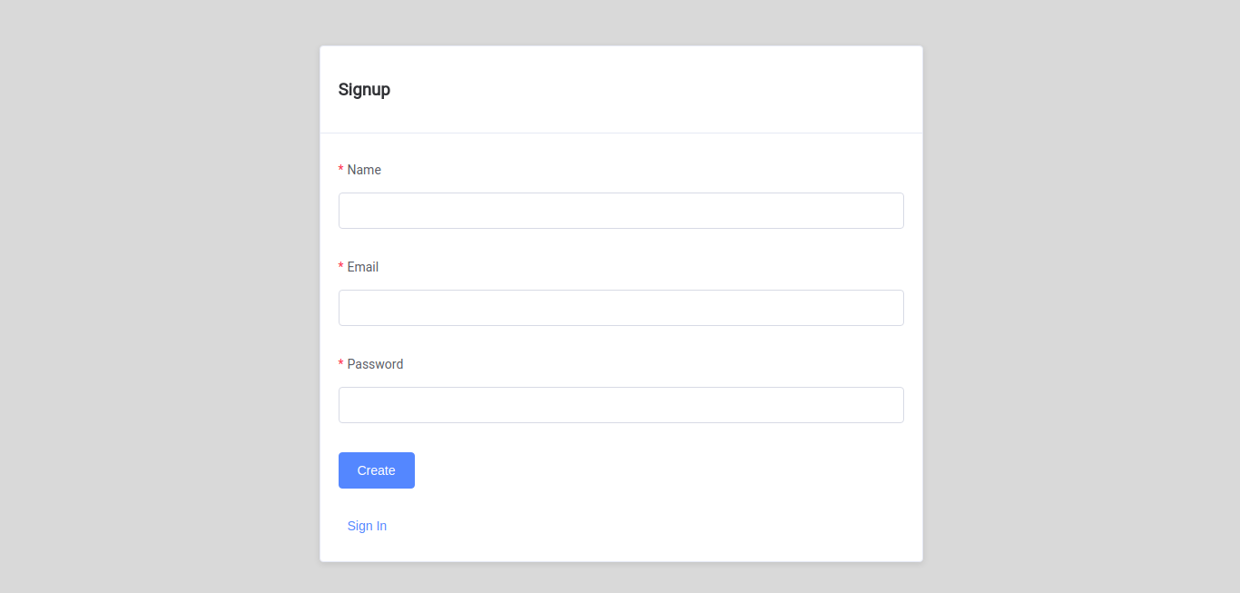 Vue Rails Registration Form